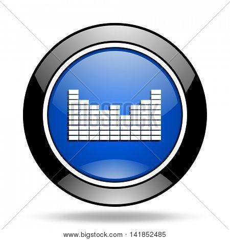 sound blue glossy icon