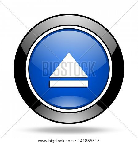 eject blue glossy icon