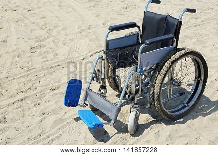 Robust Wheelchair Made Of Aluminum With Special Wheels