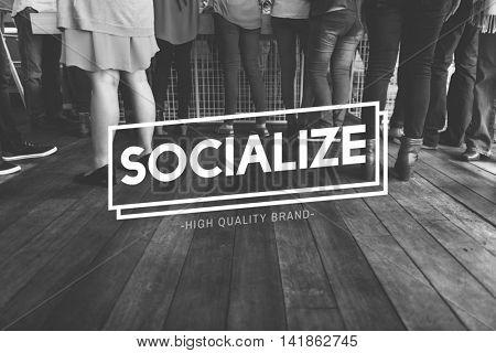Socialize Connection Fellowship Network Unity Concept