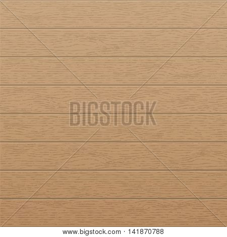 Wood texture template with horizontal stripes rustic old panels grunge vintage floor. Wooden background. Hardwood vector illustration.