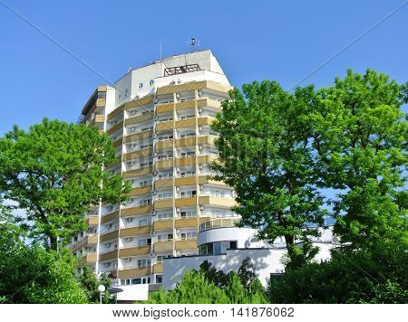 ANAPA, RUSSIA - MAY 31, 2014:  Modern building sanatorium