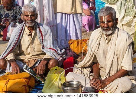 Hindu Pilgrims At The Kumbha Mela, India.