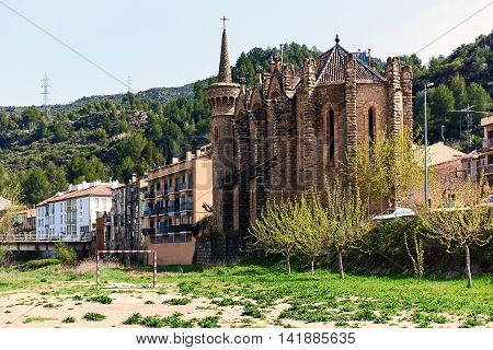 Church of Holy Family of the Bauma. Catalonia Spain