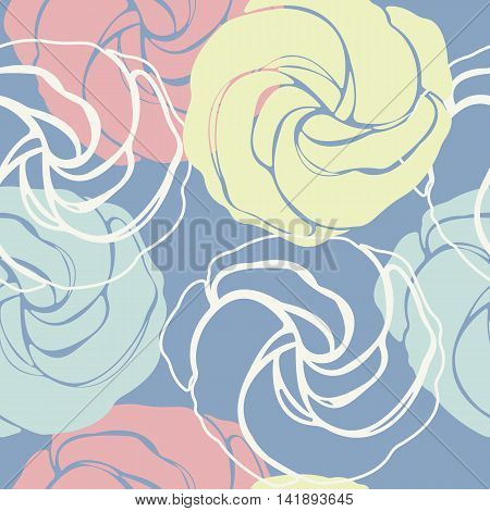 Beautiful seamless pattern with cute roses. Elegant texture with flowers and cute background for linen, tile ,design fabric, textile and more creative designs.