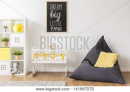 Beanbag Chair In Baby Room