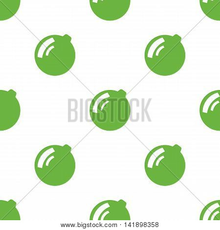 Seamless pattern with new year toy on white background