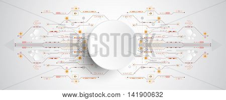 Vector abstract background shows the innovation of technology and technology concepts. Can be applied to your businesses.