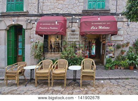 Can Molinas Cafe Entrance Valldemossa