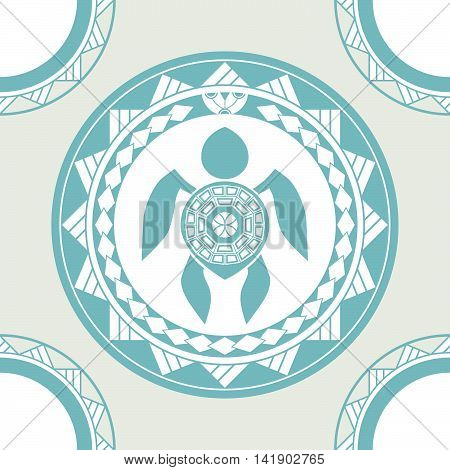 Maori style tattoo seamless pattern for decoration. Vector ornament.