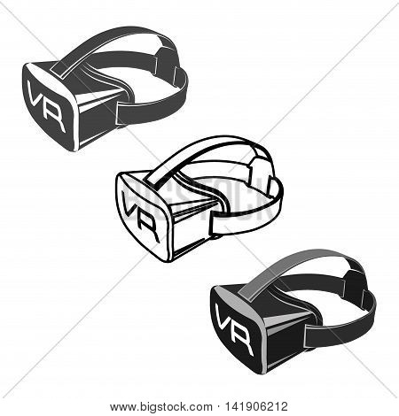 Virtual 3d reality set goggles vector illustration