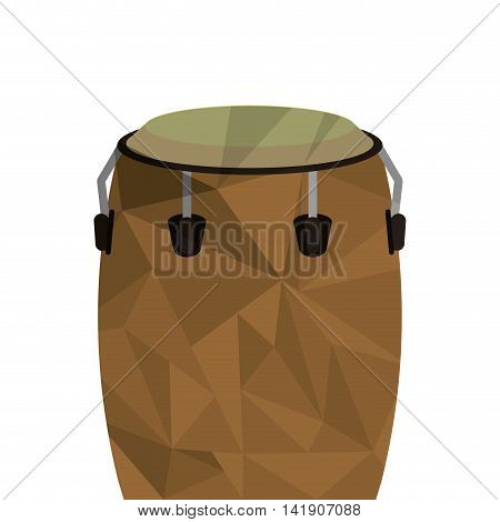 flat design polygon texture conga icon vector illustration