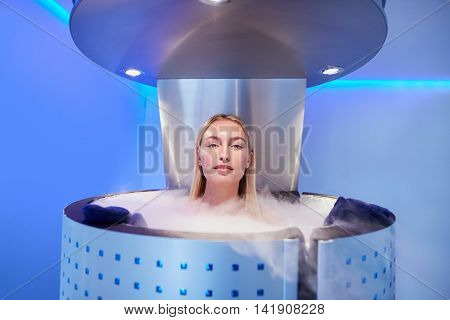 Woman Getting Whole Body Cryotherapy