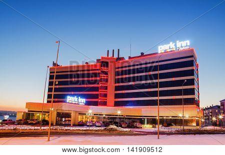 NIZHNY TAGIL RUSSIA - FEBRUARY 13 2016: The hotel