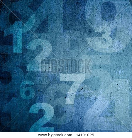 retro style numbers-background in grunge style