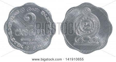 Sri Lanka 2 Cent Coin