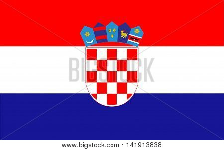 Flag of Croatia. Flag of Croatia vector. Flag of Croatia isolated.illustration