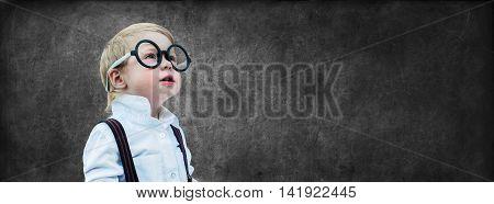Child Prodigy Chalking Board Concept Back School