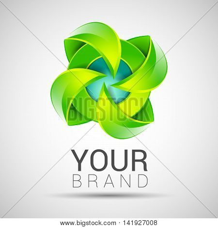 Eco Green Leaf Logo Template Green Leaves Ecology Icon