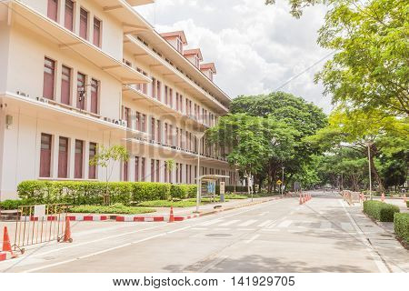 Bangkok, Thailand - June 5, 2016: Buildings of Faculty of Engineering, Chulalongkorn university.