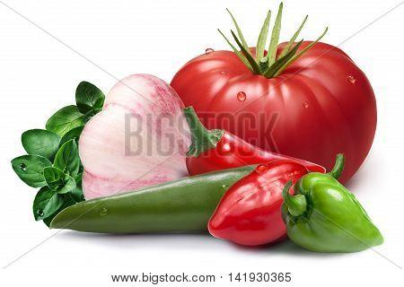 Garlic, Habaneros, Chil, Tomatoi As Design Element