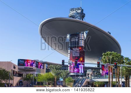 LAS VEGAS - MAY 21 : The Fashion Show mall in Las Vegas strip on May 21 2016. The Fashion Show is one of the largest malls in the world with more than 250 stores