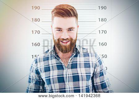 Mugshot of a happy man looking at camera