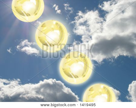 Glowing Globes In The Sky 2