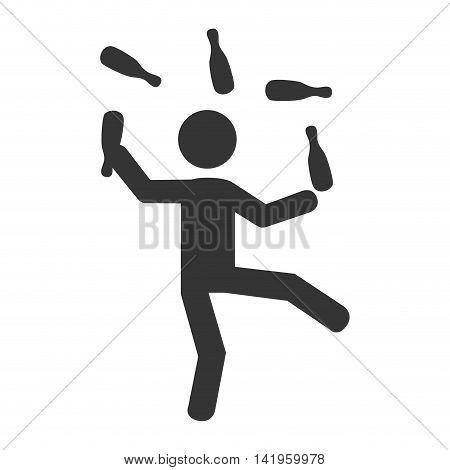 circus acrobatics show, isolated flat icon design