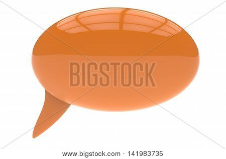 3D Render Illustration Of Yellow Speech Bubble