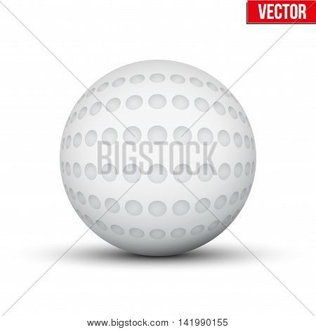 Classic Hockey Field Ball. Sport Equipment. Editable Vector illustration Isolated on white background.