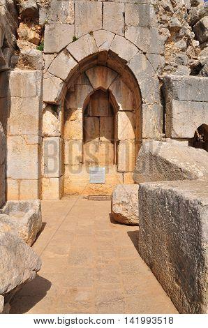 Kalaat nimrod - half ruined fortress in the Northern Israel.