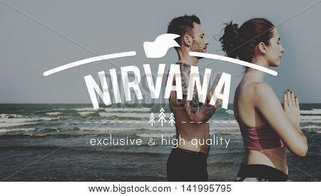 Nirvana Awakening Bliss Peace Relaxation Serenity Concept poster