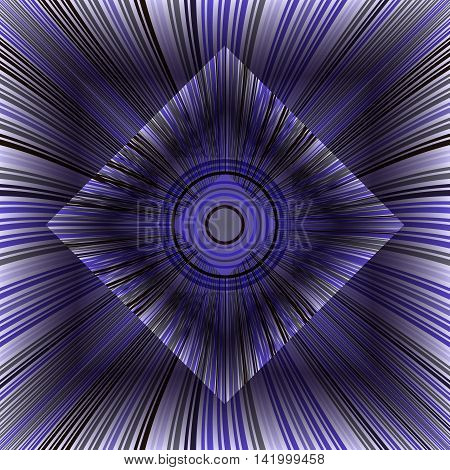Beautiful violet background with glowing lines. Inscribed objects. 3d vector illustration.
