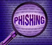 Computer Phishing Showing File Cyber And Files poster