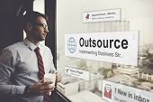 Outsource Task Contract Work Supplier Concept poster