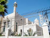 Hasan-bey Mosque in Yosef Levi street in Tel Aviv Israel poster