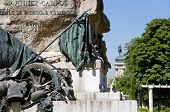 Detail of Monument to General Martinez Campos. It is located at Retiro Park Madrid Spain. It was designed by Mariano Benlliure and inaugurated on January 28 1907. poster