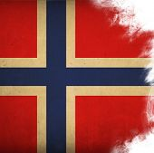 flag of norway poster
