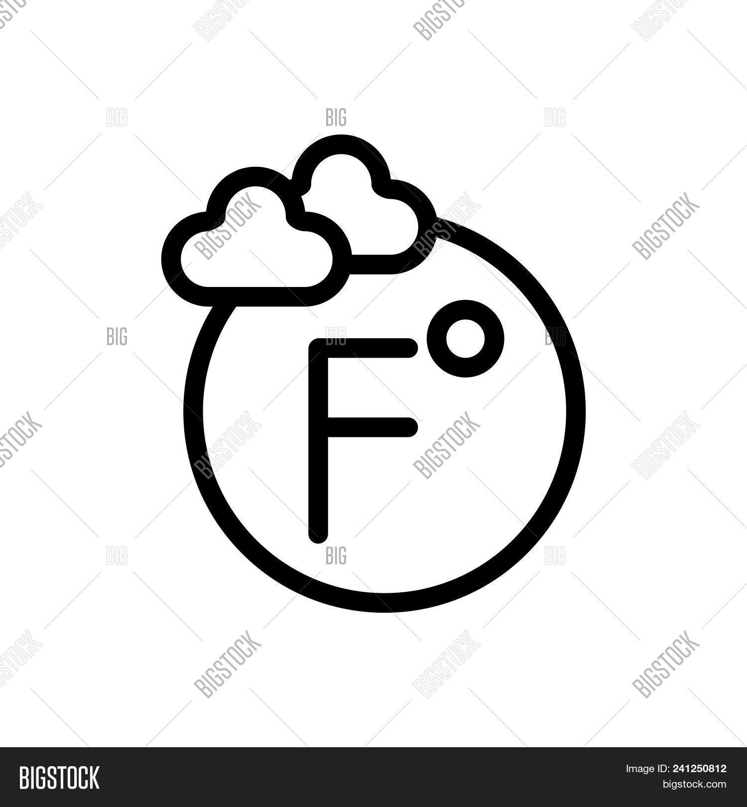 Degree Fahrenheit Vector Photo Free Trial Bigstock