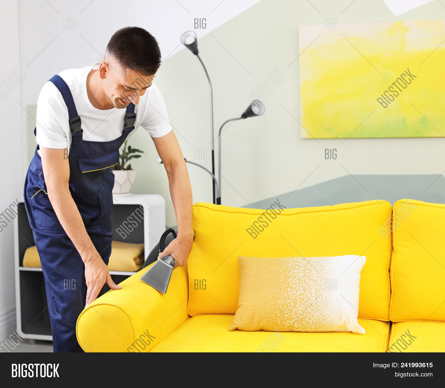Dry Cleaning Worker Image Photo Free
