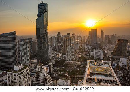 Bangkok, Thailand - January 20, 2017: View Of Mahanakhon (the Tallest Building In Thailand), A Mixed