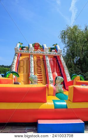 Inflatable Attraction Inflatable Trampoline For Children Bulgaria Varna 16.05.2018