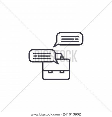 Briefing Notes Line Icon, Vector Illustration. Briefing Notes Linear Concept Sign.