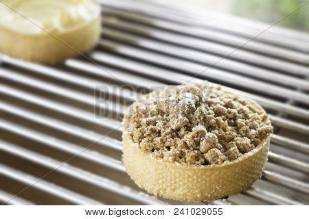 Fresh Baked Pie On Shelf, Stock Photo