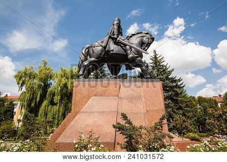 Ternopil, Ukraine - July 31 2009: Monument To King Danylo Of Halych (daniel Of Galicia), In Ternopil