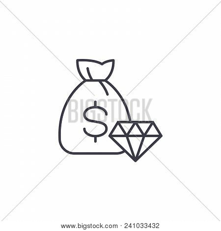 Commodity Exchange Game Line Icon, Vector Illustration. Commodity Exchange Game Linear Concept Sign.