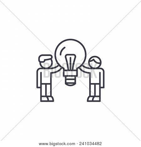 Consumer Demand Line Icon, Vector Illustration. Consumer Demand Linear Concept Sign.