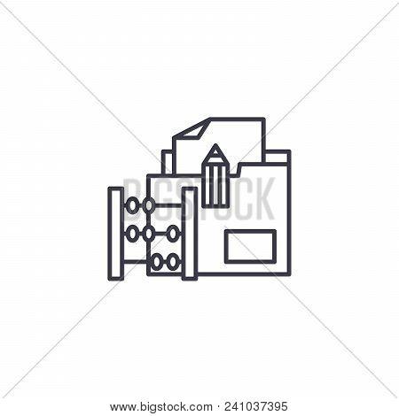 Delivery Invoice Line Icon, Vector Illustration. Delivery Invoice Linear Concept Sign.