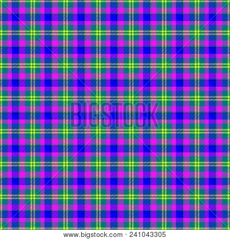 Colorful Violet Blue Pink Checker Checkered Seamless Pattern